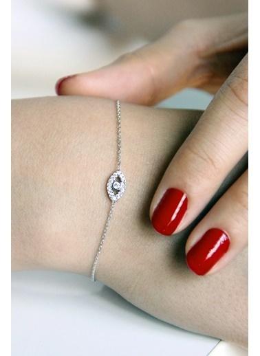 Argentum Concept Argentum Concept B048001 925 Ayar Göz Motifli Zirkon Taşlı Silver Kadın Bileklik Gümüş